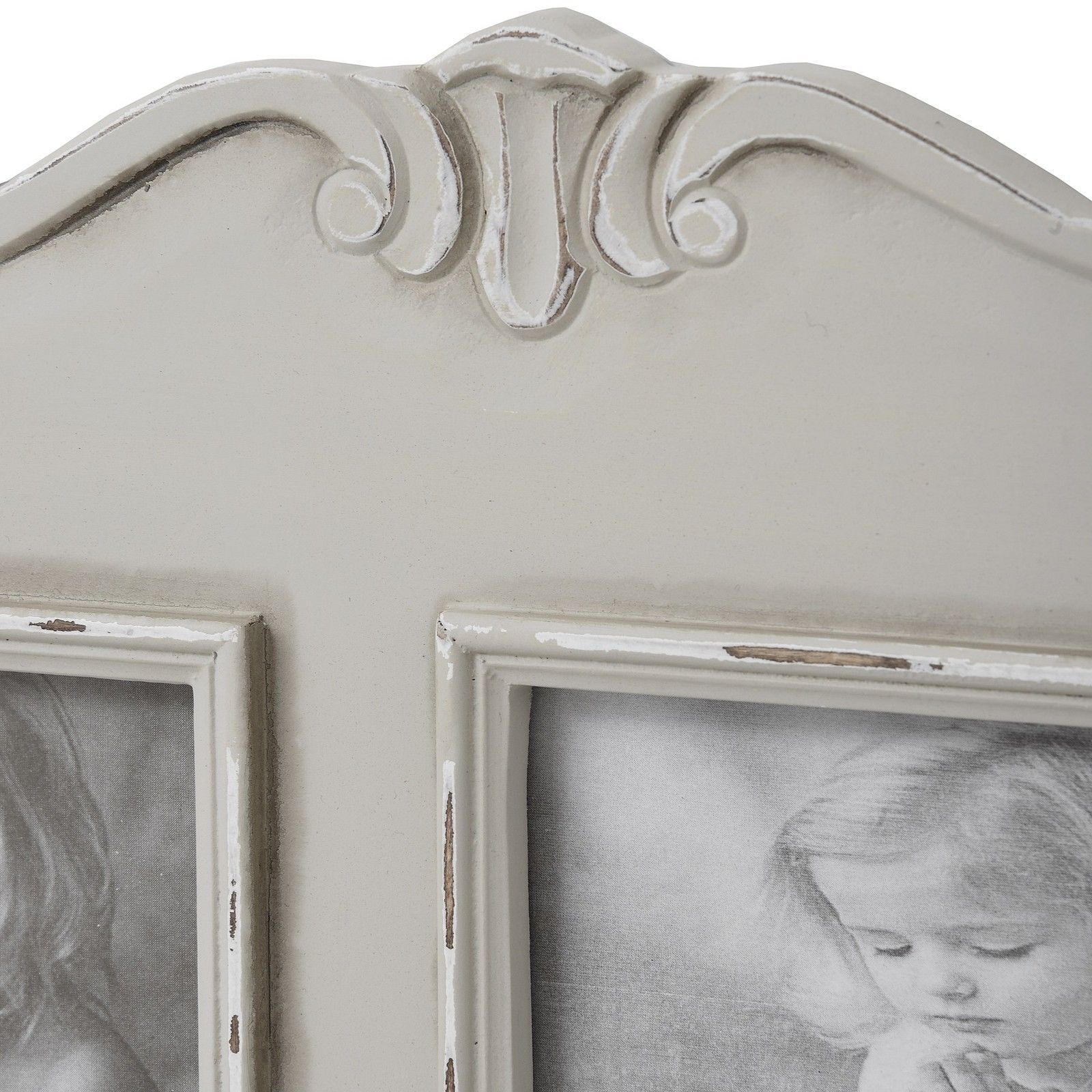 Parisienne Grey Shabby Chic 4 Picture Wooden Wall Photo Frame